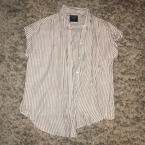Abercrombie & Fitch Striped Women's Button up